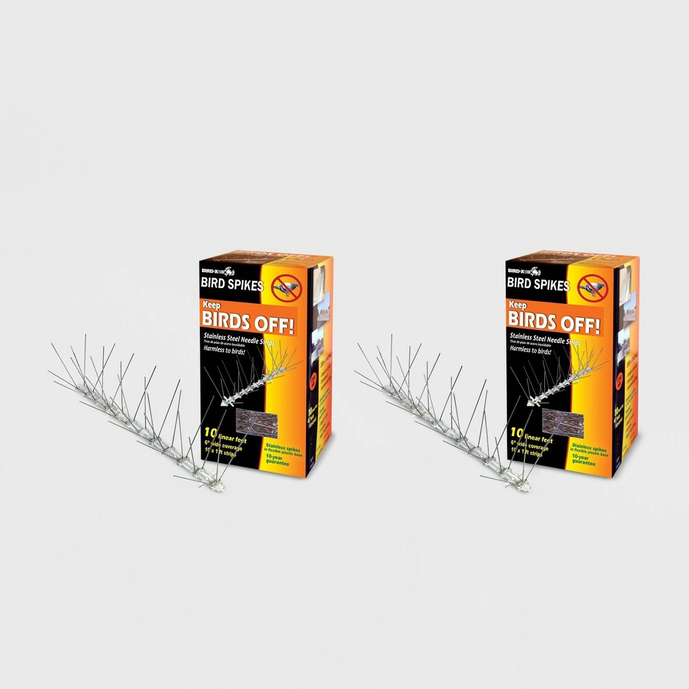 Image of 2pk 10' Stainless Steel Bird Spikes - Bird-X