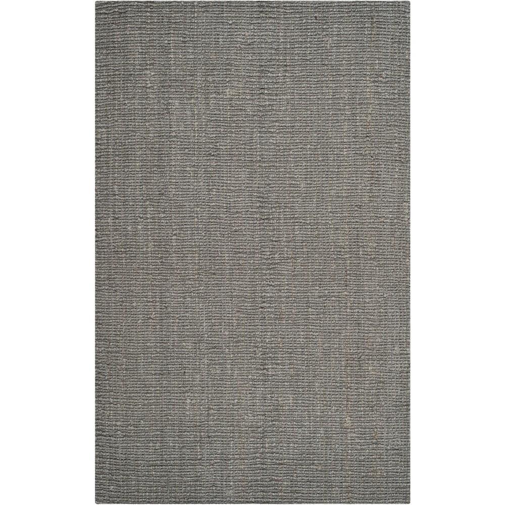 6'X9' Solid Woven Area Rug Light Gray - Safavieh