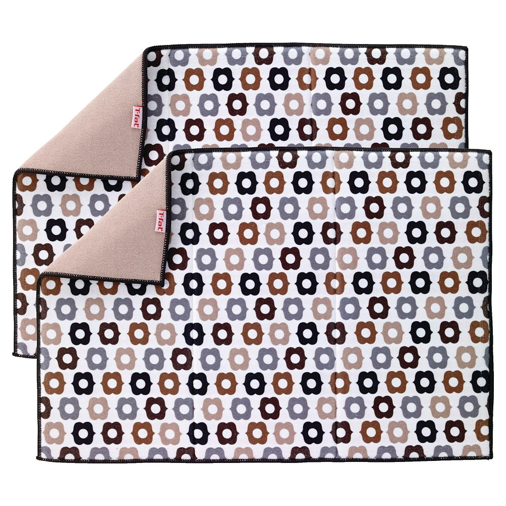 Tan Bulb Neutral Kitchen Drying Mat 2 Pack (14x21) T-Fal