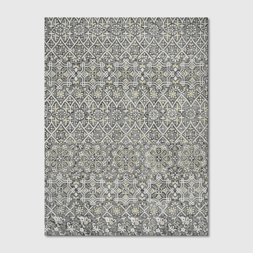 9'X12' Floral Tufted Area Rugs Gray - Threshold