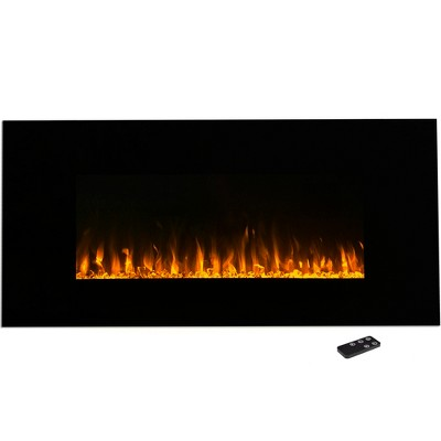 "Northwest 42"" Electric Fireplace Wall Mounted Led Fire And Ice Flame With Remote"