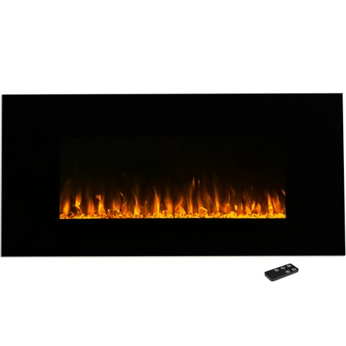 Northwest 42 Electric Fireplace Wall Mounted Led Fire And Ice Flame With Remote Target