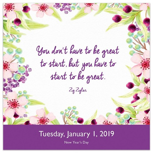 Inspiring January 2019 Calendar 2019 Tented Desktop Calendar Inspirational Quotes   TF Publishing