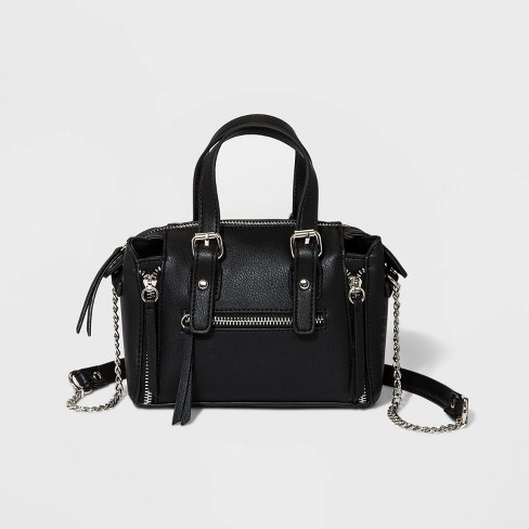 Top Handle Crossbody Bag With Chain Strap - Wild Fable™ Black - image 1 of 4