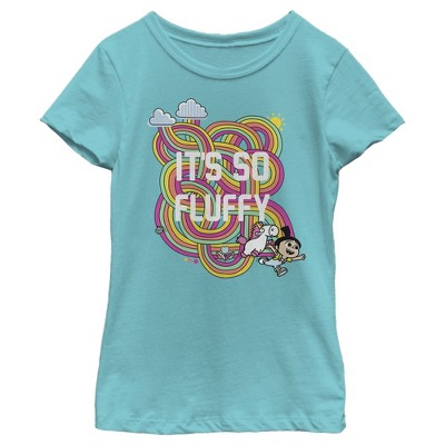 Girl's Despicable Me Minions Its So Fluffy Rainbow Unicorn T-Shirt