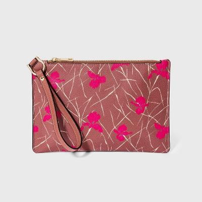 Floral Print Wristlet Pouch - A New Day™