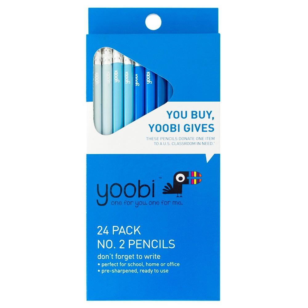24ct #2 Pencils Blue Ombre - Yoobi
