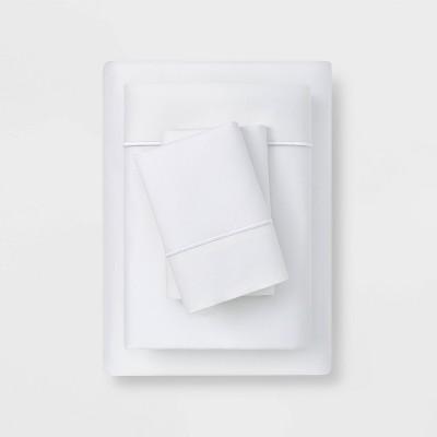 Queen 6pc 1000 Thread Count Solid Sheet Set True White - Threshold Signature™