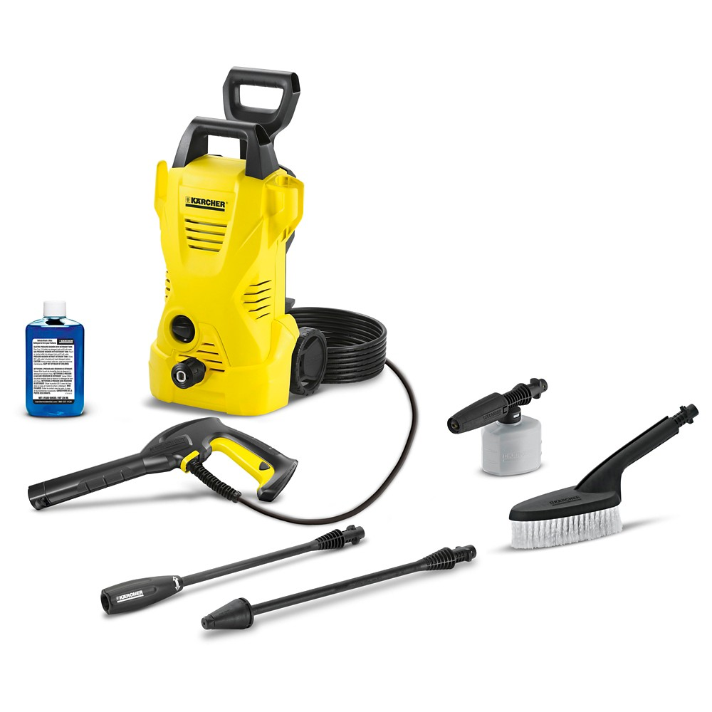 Image of 120 Volts, 1560 Watts K2 Car Care Kit 1600 Psi 1.25 Gpm Electric Power Pressure Washer - Yellow - Karcher