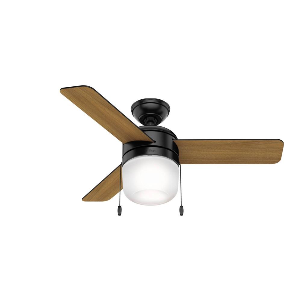"""Image of """"42"""""""" LED Acumen Ceiling Fan with Light Matte Black - Hunter Fan"""""""