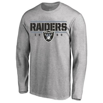 NFL Las Vegas Raiders Men's Long Sleeve Big & Tall T-Shirt Gray