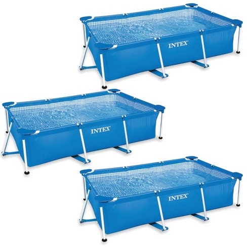 Intex 86 x 59 x 23 Inch Rectangular Frame Above Ground Swimming Pool (3 Pack) - image 1 of 4