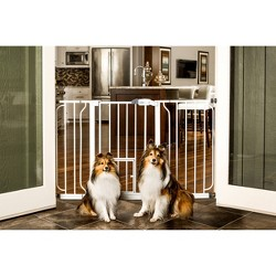Carlson Extra Wide Cat and Dog Gate with Small Door