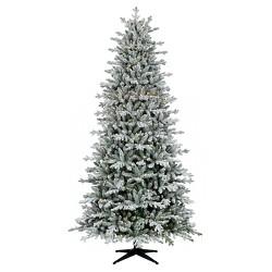 9ft Pre-lit  Artificial Christmas Tree Full Flocked Balsam Fir Clear Lights - Wondershop™