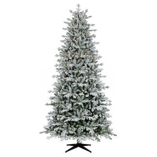 9ft Pre-lit Artificial Christmas Tree Full Flocked Balsam Fir Clear Lights - Wondershop™