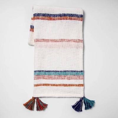 Striped Woven Cotton Slub Throw Blanket - Opalhouse™