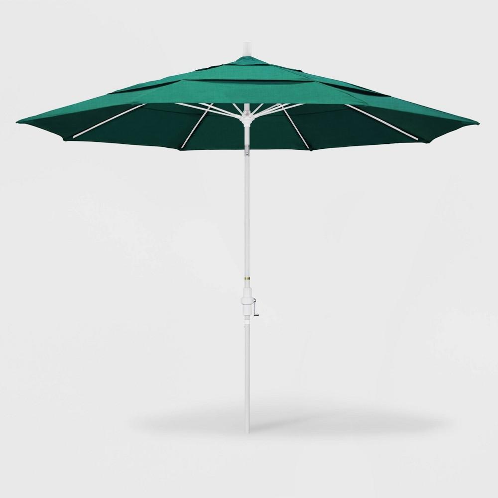 Image of 11' Sun Master Patio Umbrella Collar Tilt Crank Lift - Sunbrella Spectrum Aztec - California Umbrella