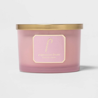 15oz Glass Jar Candle Candy Cane Pink - Threshold™