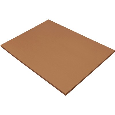 SunWorks Heavyweight Construction Paper, 18 x 24 Inches, Brown, 50 Sheets