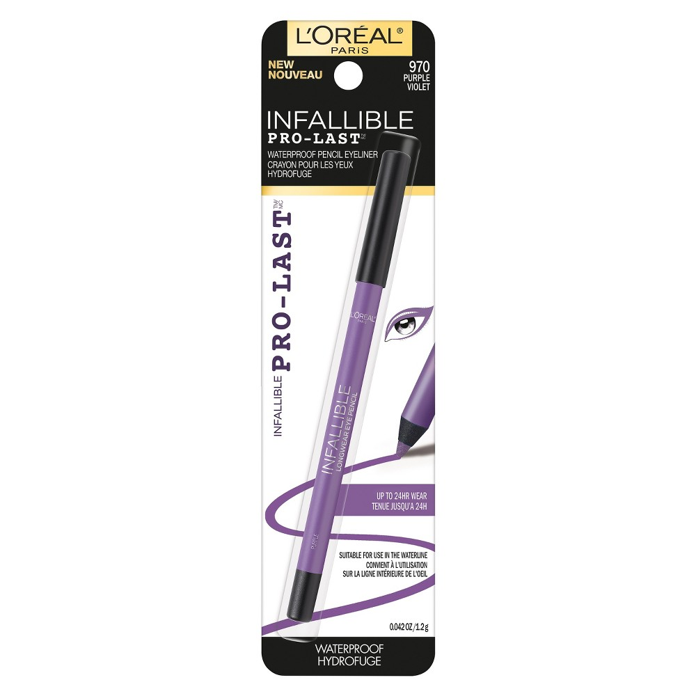 L'Oréal Paris Infallible Pro-Last Waterproof Eyeliner Purple- 0.042oz, Purple