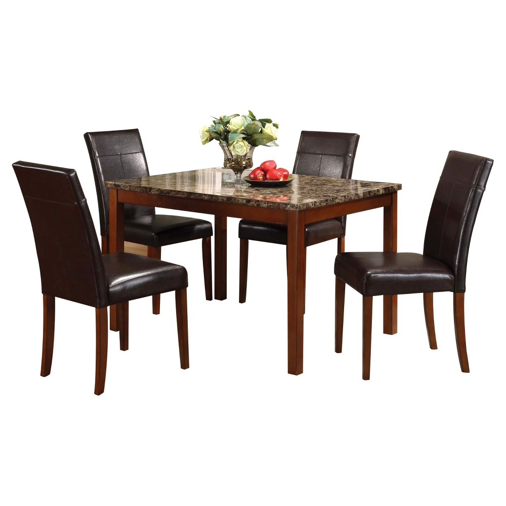 Acme Furniture Dining Table Set Brown Cherry
