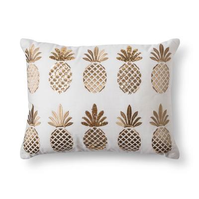 Yellow Pineapple Lumbar Pillow - No Coast®