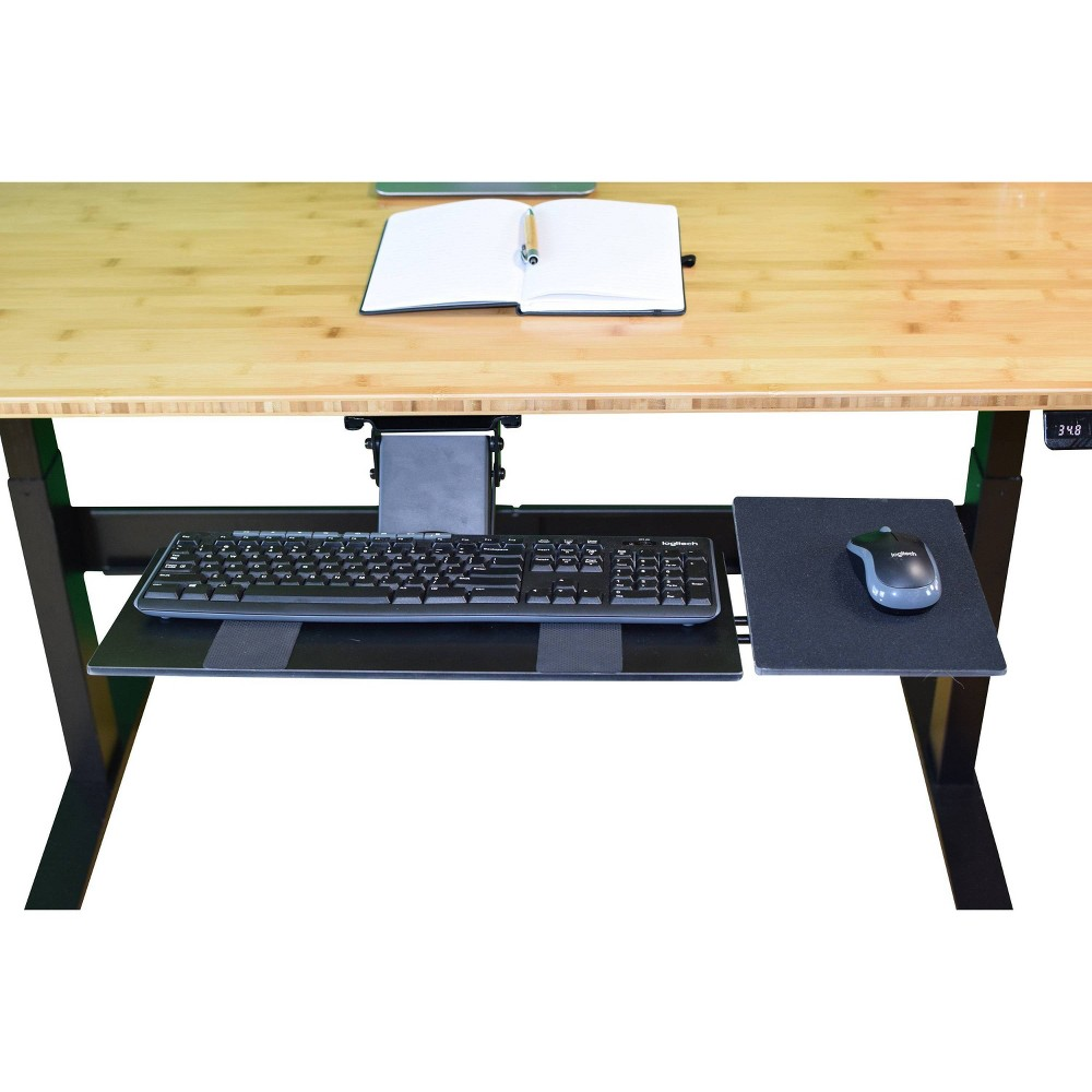 Image of Adjustable Under Desk Computer Keyboard Tray Black - Uncaged Ergonomics