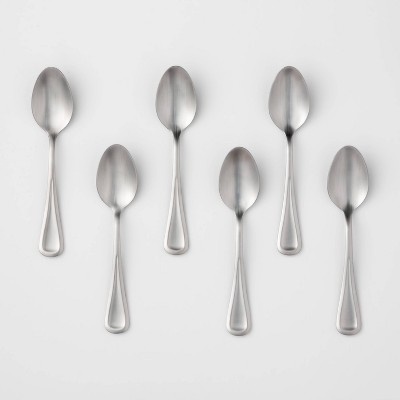 6pk Stainless Steel Olisa Satin Teaspoons - Threshold™
