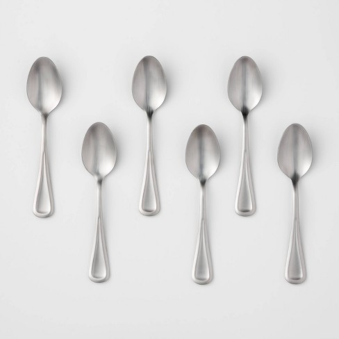 6pk Stainless Steel Olisa Satin Teaspoons - Threshold™ - image 1 of 1