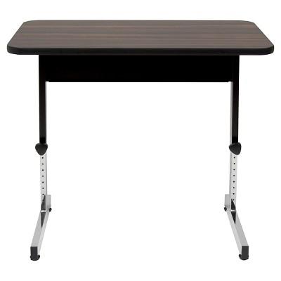 """36"""" Canvas & Color Adjustable All Purpose Table Black/Walnut - Calico Designs"""