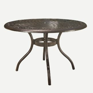 Phoenix Round Cast Aluminum Table - Hammered Bronze - Christopher Knight Home