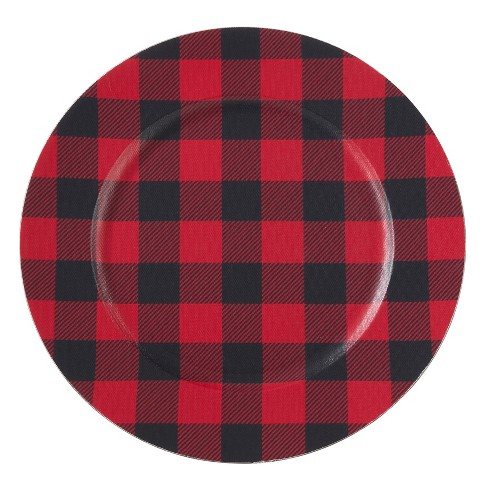 Prime Set Of 4 Buffalo Plaid Design Table Chargers Red Black Download Free Architecture Designs Grimeyleaguecom