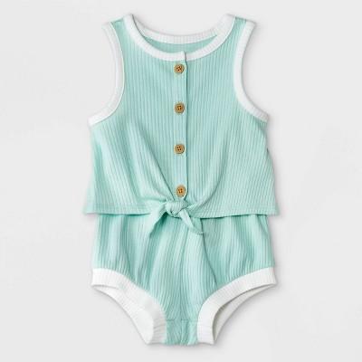 Baby Girls' 2pc Rib Top & Bottom Set - Cat & Jack™ Mint