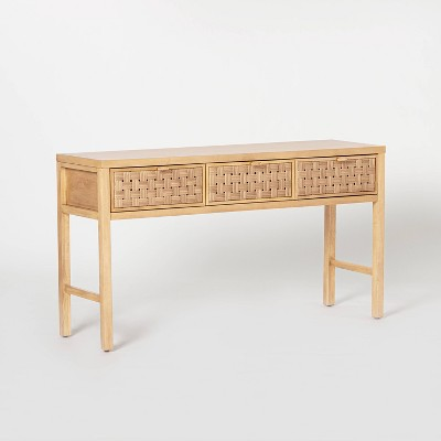 Palmdale Woven Drawer Console Natural - Threshold™ designed with Studio McGee