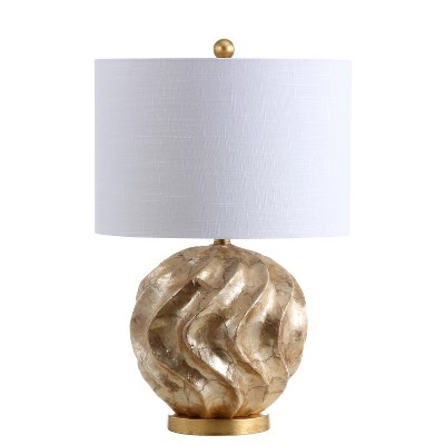 24  Versailles Sphere Sea Shell LED Table Lamp Gold (Includes Energy Efficient Light Bulb)- JONATHAN Y