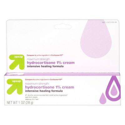 Anti-Itch 1% Hydrocortisone Maximum Strength Intensive Healing Cream - 1oz - up & up™