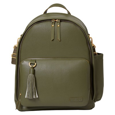 Skip Hop Greenwich Simply Chic Diaper Backpack - Olive