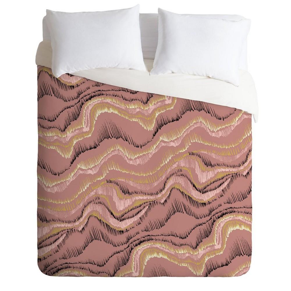 King Pattern State Sketch Sedona Comforter Set Pink - Deny Designs