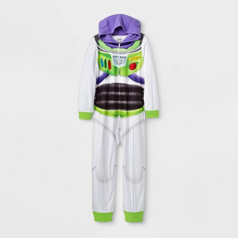 Boys' Toy Story Buzz Lightyear Union Suit - White - image 1 of 1