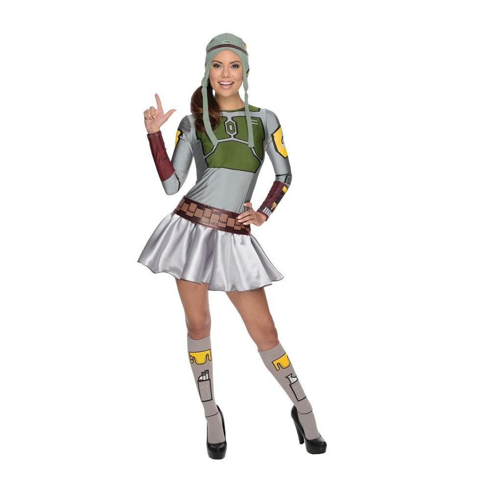 Women's Star Wars Boba Fett Skirt Halloween Costume M, Multicolored