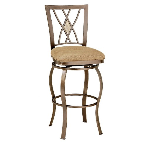 Brookside Swivel Diamond Back 24 Counter Stool Metalbrown