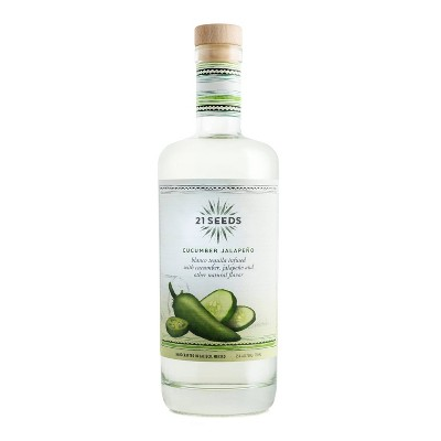 21 Seeds Cucumber Jalapeno Infused Blanco Tequila - 750ml Bottle