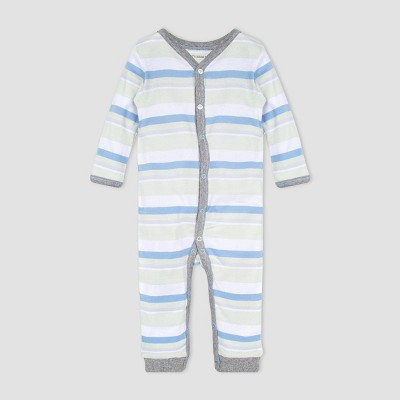 Burt's Bees Baby® Baby Boys' Striped Foothills Jumpsuit - Green
