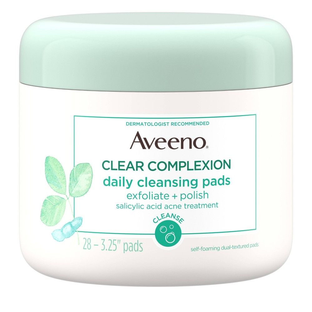 Aveeno Clear Complexion Daily Facial Cleansing Pads - 28ct
