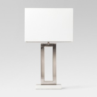 Weston Window Pane Table Lamp Silver (Lamp Only) - Project 62™