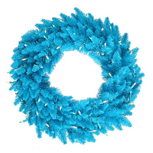 about this item - Blue Christmas Wreath