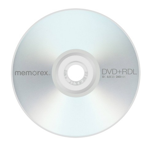 Memorex DVD+R DL Jewel Case Disc Pack - 10 PK