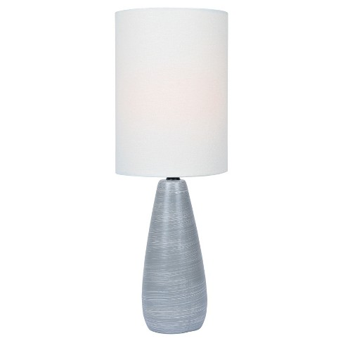 Quatro Table Lamp 17 Brushed Gray Only Lite Source