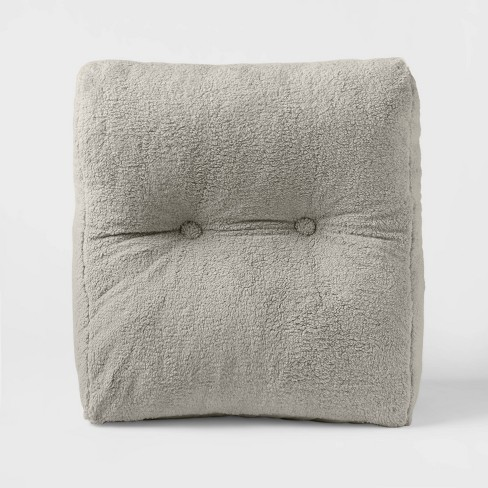 Sherpa Wedge Bed Rest Pillow - Room Essentials™ - image 1 of 4