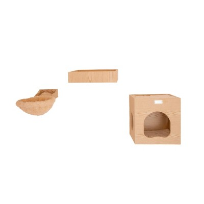 Armarkat Wall Series with Condo and Soft Perch Cat Tree - Brown